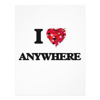 I Love Anywhere 21.5 Cm X 28 Cm Flyer