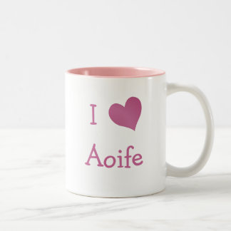 I Love Aoife Two-Tone Coffee Mug