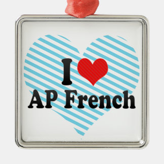 I Love AP French Christmas Ornament