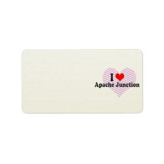 I Love Apache Junction, United States Address Label