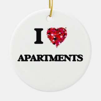 I Love Apartments Christmas Ornament
