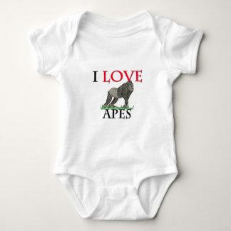 I Love Apes Baby Bodysuit