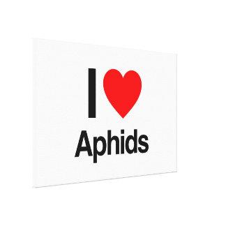 i love aphids canvas prints