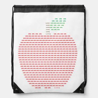 I Love Apple Drawstring Backpack