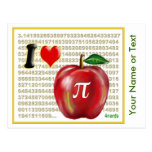 I Love Apple Pie  and Pi Math Numbers Red and Gold