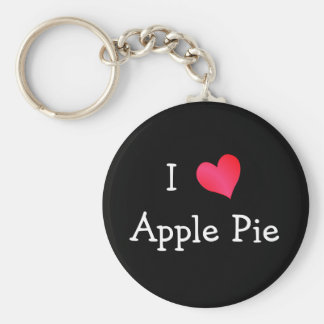I Love Apple Pie Key Ring