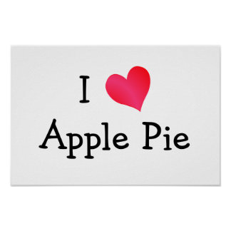 I Love Apple Pie Print