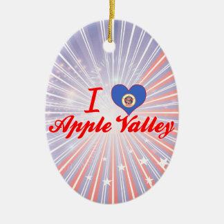 I Love Apple Valley, Minnesota Ceramic Oval Decoration