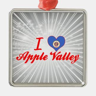 I Love Apple Valley, Minnesota Silver-Colored Square Decoration
