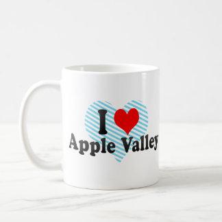 I Love Apple Valley, United States Basic White Mug