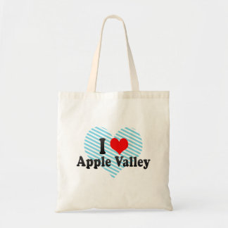 I Love Apple Valley, United States Budget Tote Bag