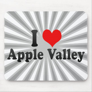 I Love Apple Valley, United States Mouse Pad