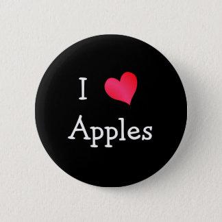 I Love Apples 6 Cm Round Badge