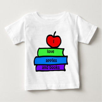 I love apples and books,, Back to School Baby T-Shirt