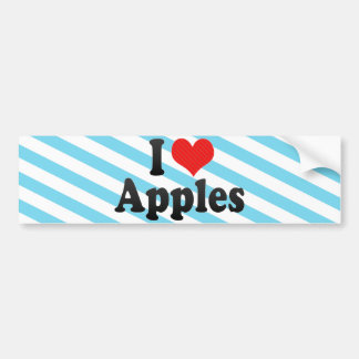I Love Apples Bumper Sticker