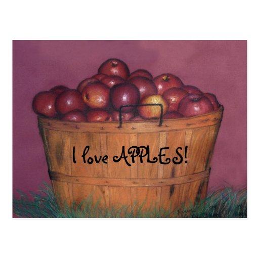 I love APPLES! Postcards