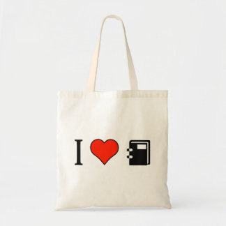 I Love Appointment Books Budget Tote Bag