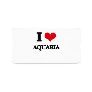 I Love Aquaria Address Label