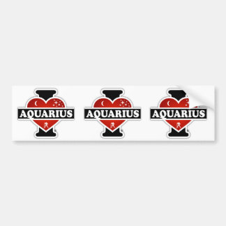 I Love Aquarius Bumper Sticker