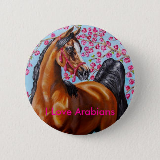 I Love Arabians 6 Cm Round Badge