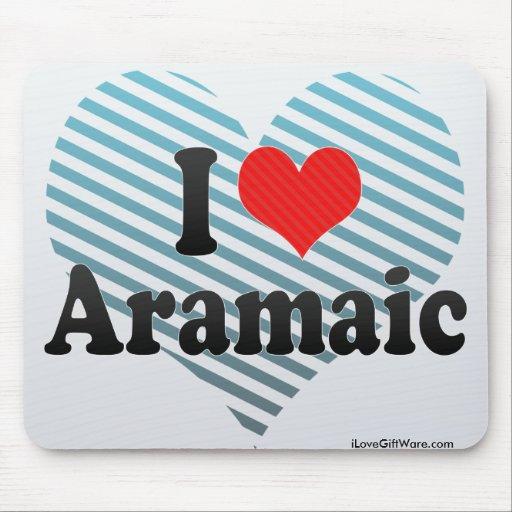 I Love Aramaic Mouse Pads