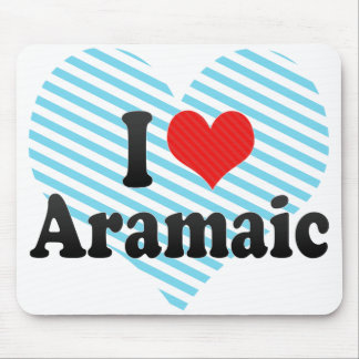 I Love Aramaic Mousepad