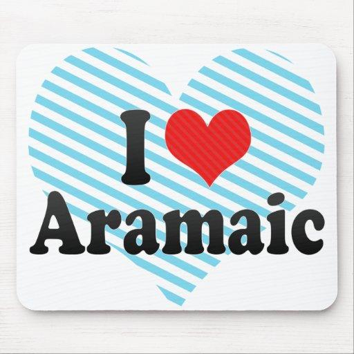 I Love Aramaic Mousepad