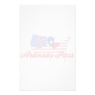 I Love Aransas Pass, Texas Customized Stationery