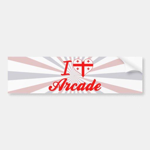 I Love Arcade, Georgia Bumper Sticker
