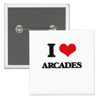 I Love Arcades 15 Cm Square Badge