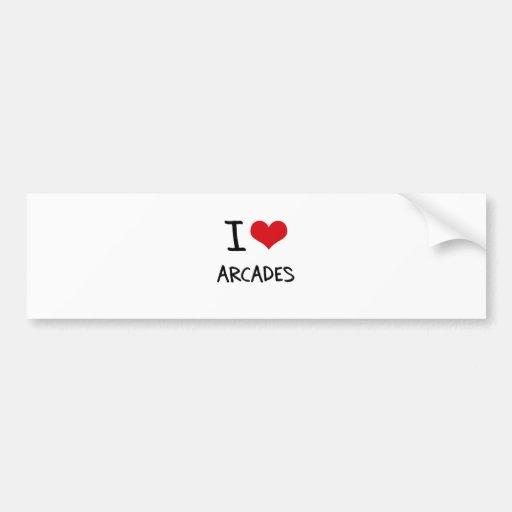 I Love Arcades Bumper Stickers