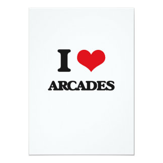 "I Love Arcades 5"" X 7"" Invitation Card"