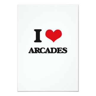"I Love Arcades 3.5"" X 5"" Invitation Card"