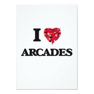 I Love Arcades 13 Cm X 18 Cm Invitation Card