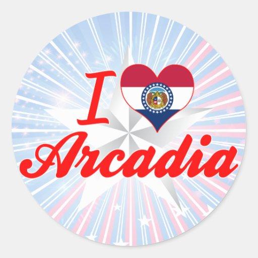 I Love Arcadia, Missouri Stickers