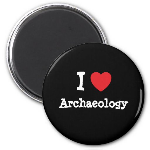 I love Archaeology heart custom personalized Magnet