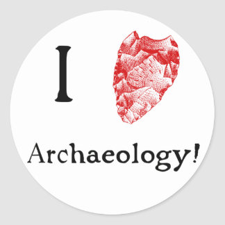 I Love Archaeology Stickers
