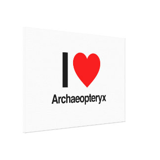 i love archaeopteryx stretched canvas print