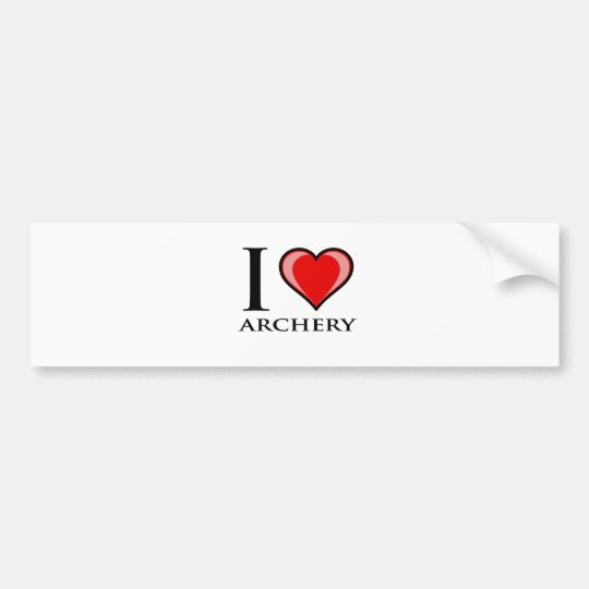 I Love Archery Bumper Sticker