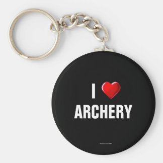 I Love Archery keychain