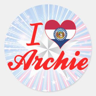 I Love Archie, Missouri Sticker