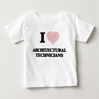 I love Architectural Technicians (Heart made from T-shirt