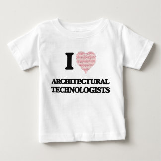 I love Architectural Technologists (Heart made fro T Shirt