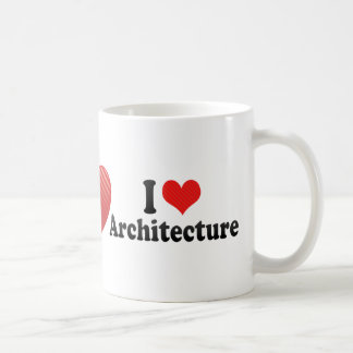 I Love Architecture Basic White Mug