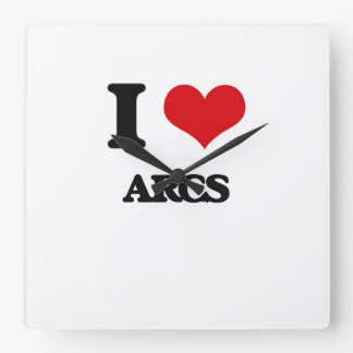 I Love Arcs Wall Clocks