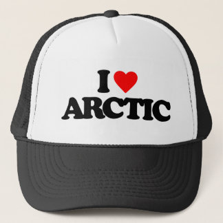 I LOVE ARCTIC TRUCKER HAT