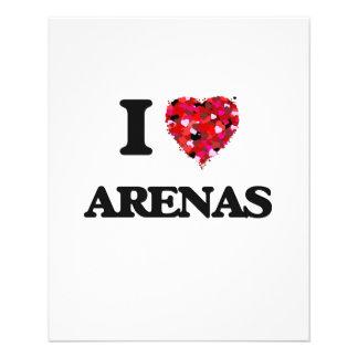 I Love Arenas 11.5 Cm X 14 Cm Flyer