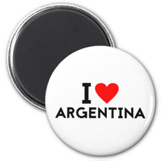 i love Argentina country nation heart symbol text 6 Cm Round Magnet