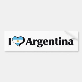 I Love Argentina Flag Bumper Sticker