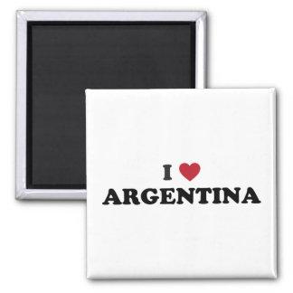 I Love Argentina Square Magnet